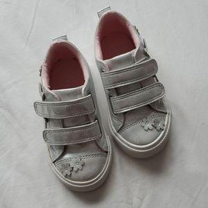 Joe Fresh Silver shoes with velcro closure